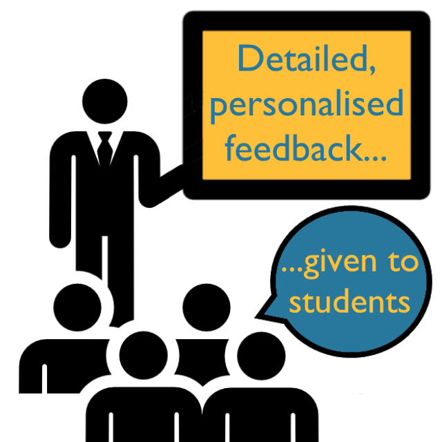 Detailed, personalised feedback