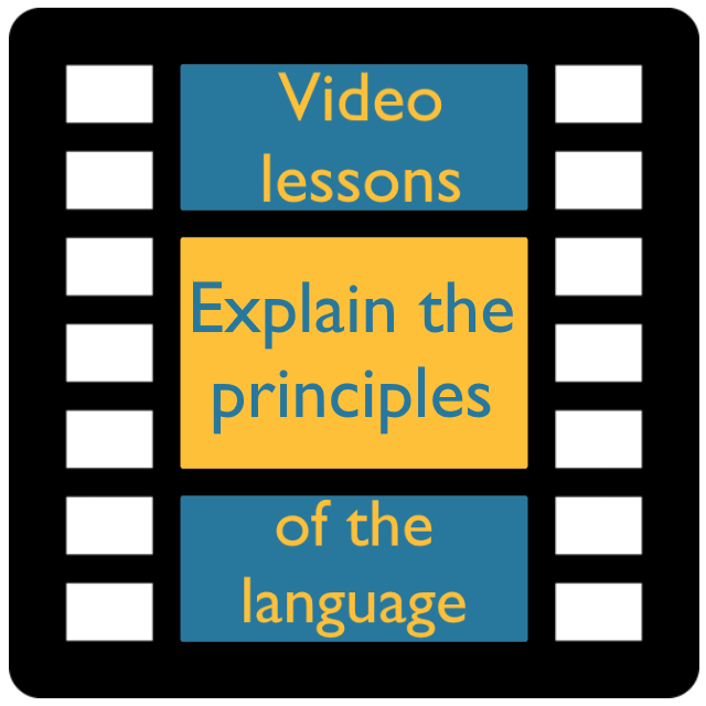 Video lessons principles of language